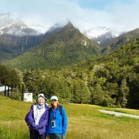 hikers on routeburn track