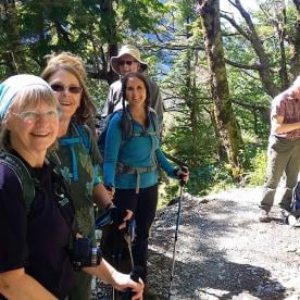 hikers on the routeburn track new zealand