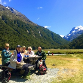 lunch at routeburn track