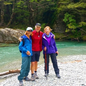 group at routeburn track river