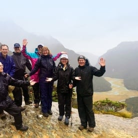 nz trails group at routeburn track valley new zealand