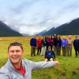 group selfie in the eglinton valley