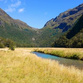 view of routeburn track valley