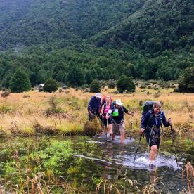 Crossing the Travers River in the Nelson Lakes National Park