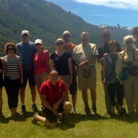hiking group in the eglington valley