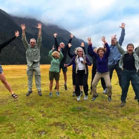 You might as well jump…. Becky and crew at Eglinton Valley
