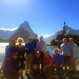 group at milford sound new zealand