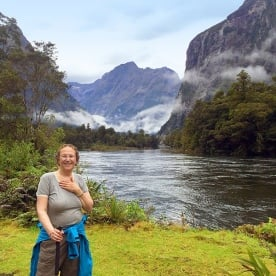 cindy on the milford track