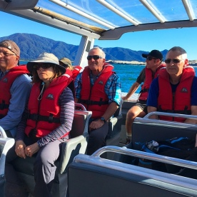 Jetboating on the Hollyford River at Martin's Bay