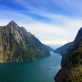 Milford Sound Helicopter View