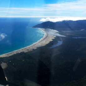 A birds eye view of today's destination - Martins Bay!