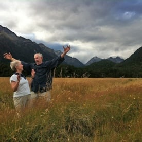 The Joy on the road of Milford Sound