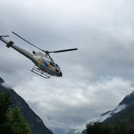 Helicopter from Milford Sound to Martins Bay