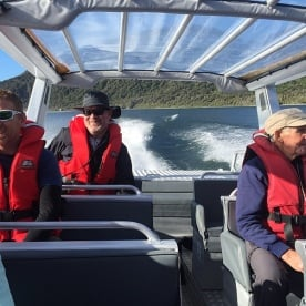 Jetboating the Hollyford River
