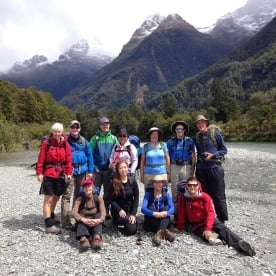 Fiordland Mountains and Hollyford River