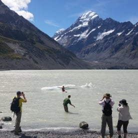Swimming in the Hooker Terminal Lake