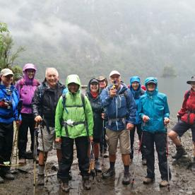 The group at Milford Track