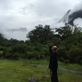 Mist rising on the Milford Track