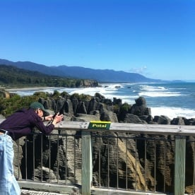 Beautiful day at the Pancake Rocks
