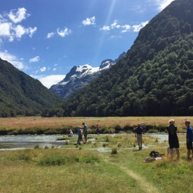 Routeburn Flats lunch spot