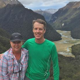Hikers on the Routeburn Track