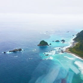 fiordland coast heli view