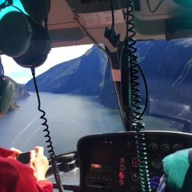 Views of Milford Sound from the Helicopter