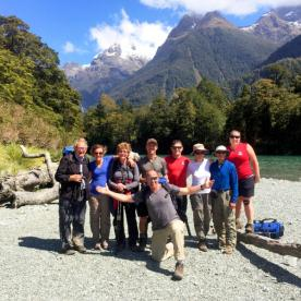HIking Group on the Hollyford  Track