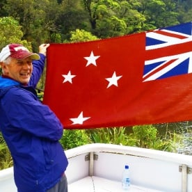 new zealand naval flag at milford sound