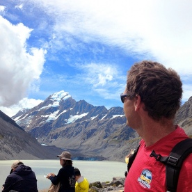 hiking guide at mount cook new zealand