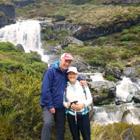 hikers at routeburn falls