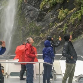 Boat Tour at Milford Sound, Fiordland National Park Southland New Zealand