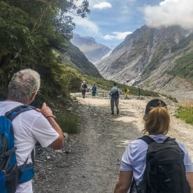 Walking at Fox Glacier Valley, West Coast New Zealand