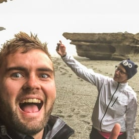 Selfie at Te Miko, West Coast New Zealand