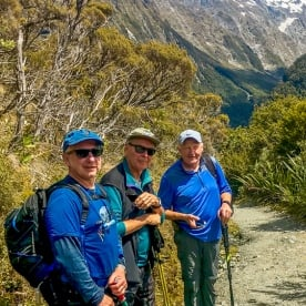 Group at Key Summit Lookout Trail, Fiordland New Zealand