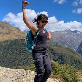 Guest at the Key Summit Trail, Fiordland New Zealand
