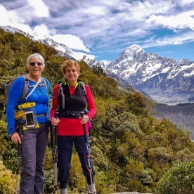 Ladies at Aoraki Mount Cook, Canterbury New Zealand