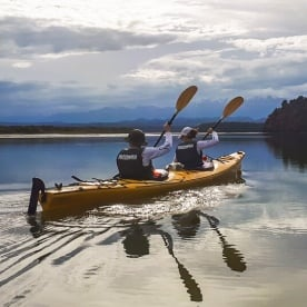 Kayaking the Okarito Lagoon, West Coast New Zealand
