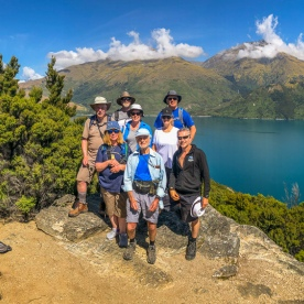 Group at Mou Waho Island, Wanaka Otago New Zealand