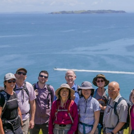 Group at Mou Waho Island, Auckland New Zealand