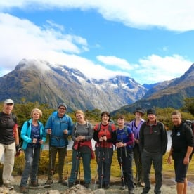 4 group hollyford track fiordland southland