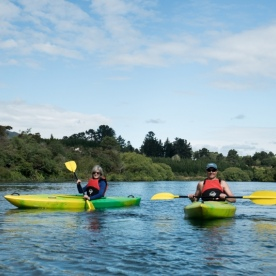 Kayaking the Waikato River