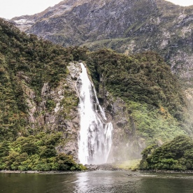 Stirling Falls, Milford Sound Fiordland Southland New Zealand