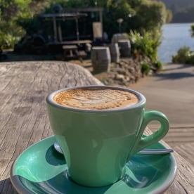 Coffee at Lochmara Lodge, Marlborough Sounds New Zealand