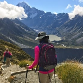 Walking the Sealy Tarns Track, Aoraki Mount Cook National Park Canterbury New Zealand