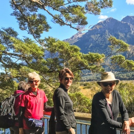 Group at Mirror Lakes, Fiordland National Park Southland New Zealand