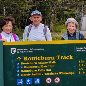 Group at Routeburn track Otago New Zealand