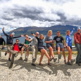 Group at Lake Wanaka Lookout, Otago New Zealand