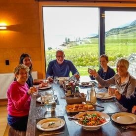 Dinner at Lake Ohau Quarters, Otago New Zealand