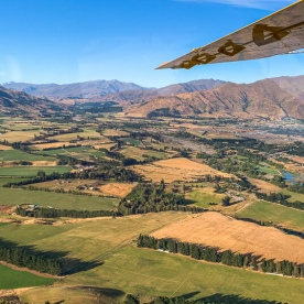 Scenic flight above Wanaka, Otago New Zealand